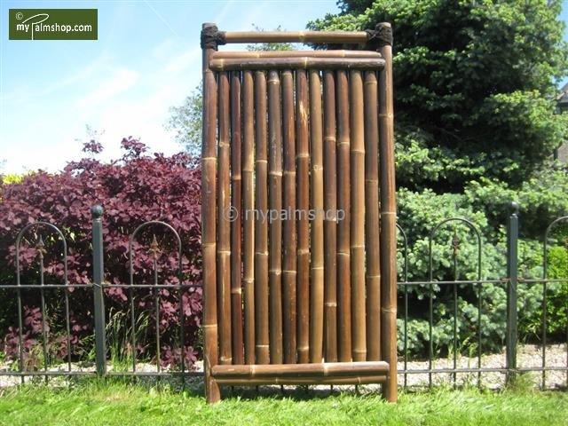 Bambuszaun Teppan 90cm x 180cm BLACK [Palette]