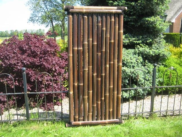 Bambuszaun Timo 90cm x 180cm BLACK [Palette]